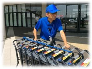 【週払いOK】初心者・地元者集まれ!スーパーマーケットのカート回収業務